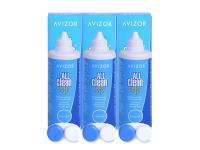 Roztoky na kontaktní čočky - Roztok Avizor All Clean Soft 3x350 ml