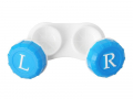 Pouzdro na čočky modré L+R