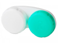 Pouzdra na kontaktní čočky - Pouzdro na čočky zeleno-bílé