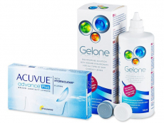Acuvue Advance PLUS (6čoček) +roztokGelone360ml