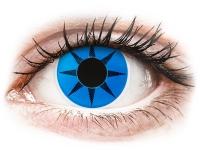 Crazy barevné kontaktní čočky - ColourVUE Crazy Lens - Blue Star - nedioptrické