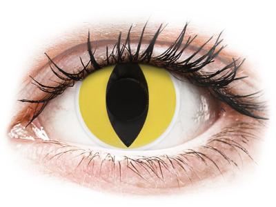 ColourVUE Crazy Lens - Cat Eye - nedioptrické (2čočky)