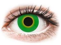 Crazy barevné kontaktní čočky - ColourVUE Crazy Lens - Hulk Green - nedioptrické