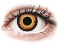 Barevné kontaktní čočky MaxVue Vision - ColourVUE Crazy Lens - Orange Werewolf - nedioptrické