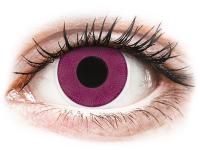 Barevné kontaktní čočky - ColourVUE Crazy Lens - Purple - nedioptrické