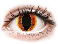 Crazy barevné kontaktní čočky - ColourVUE Crazy Lens - Saurons Eye - nedioptrické