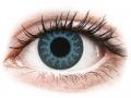 Barevné kontaktní čočky MaxVue Vision - ColourVUE Crazy Lens - Solar Blue - nedioptrické