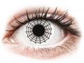 Barevné kontaktní čočky MaxVue Vision - ColourVUE Crazy Lens - Spider - nedioptrické