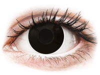 Crazy barevné kontaktní čočky - ColourVUE Crazy Lens - BlackOut - dioptrické