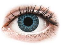 Crazy barevné kontaktní čočky - ColourVUE Crazy Lens - Solar Blue - dioptrické