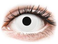 Crazy barevné kontaktní čočky - ColourVUE Crazy Lens - WhiteOut - dioptrické