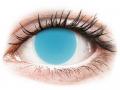 Barevné kontaktní čočky MaxVue Vision - ColourVUE Crazy Glow Electric Blue - nedioptrické