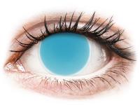 Crazy barevné kontaktní čočky - ColourVUE Crazy Glow Electric Blue - nedioptrické