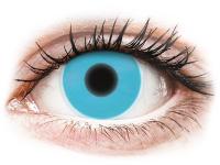 Crazy barevné kontaktní čočky - ColourVUE Crazy Glow Blue - nedioptrické