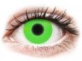 Barevné kontaktní čočky MaxVue Vision - ColourVUE Crazy Glow Green - nedioptrické
