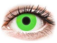 Crazy barevné kontaktní čočky - ColourVUE Crazy Glow Green - nedioptrické