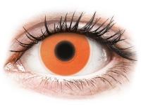 Crazy barevné kontaktní čočky - ColourVUE Crazy Glow Orange - nedioptrické