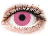 Crazy barevné kontaktní čočky - ColourVUE Crazy Glow Pink - nedioptrické