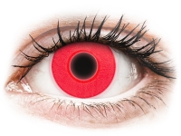 Crazy barevné kontaktní čočky - ColourVUE Crazy Glow Red - nedioptrické