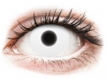 Barevné kontaktní čočky - ColourVUE Crazy Glow White - nedioptrické