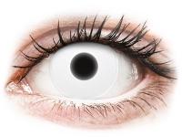 Crazy barevné kontaktní čočky - ColourVUE Crazy Glow White - nedioptrické
