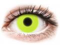 Barevné kontaktní čočky - ColourVUE Crazy Glow Yellow - nedioptrické