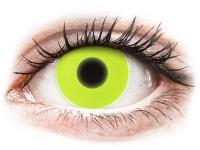 Crazy barevné kontaktní čočky - ColourVUE Crazy Glow Yellow - nedioptrické