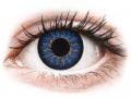 Barevné kontaktní čočky MaxVue Vision - ColourVUE Glamour Blue - dioptrické