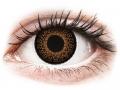Barevné kontaktní čočky MaxVue Vision - ColourVUE Eyelush Brown - nedioptrické