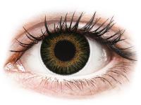 Barevné kontaktní čočky - ColourVUE 3 Tones Green - nedioptrické