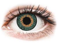 Barevné kontaktní čočky - Expressions Colors Aqua - dioptrické