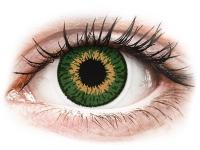 Barevné kontaktní čočky - Expressions Colors Green - dioptrické