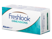 FreshLook Dimensions Carribean Aqua - nedioptrické (2čočky)