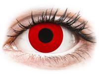 Crazy barevné kontaktní čočky - ColourVUE Crazy Lens - Red Devil - nedioptrické jednodenní