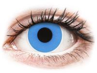 Crazy barevné kontaktní čočky - ColourVUE Crazy Lens - Sky Blue - nedioptrické jednodenní