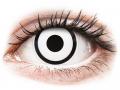 Barevné kontaktní čočky MaxVue Vision - ColourVUE Crazy Lens - White Zombie - nedioptrické jednodenní