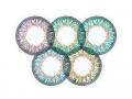 Barevné kontaktní čočky MaxVue Vision - ColourVue One Day TruBlends Rainbow 2 - nedioptrické