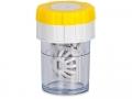 Pouzdra na kontaktní čočky - Pouzdro na čočky rotační - žluté