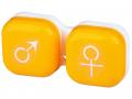 Pouzdra na kontaktní čočky - Pouzdro na čočky muž a žena - žluté