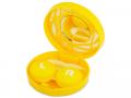 Pouzdra na kontaktní čočky se zrcátkem - Kazetka s ornamentem - žlutá