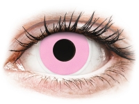 Crazy barevné kontaktní čočky - ColourVUE Crazy Lens - Barbie Pink - nedioptrické