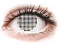 Barevné kontaktní čočky - ColourVUE Crazy Lens - White Screen - nedioptrické