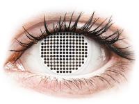 Crazy barevné kontaktní čočky - ColourVUE Crazy Lens - White Screen - nedioptrické