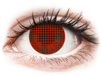 Crazy barevné kontaktní čočky - ColourVUE Crazy Lens - Red Screen - nedioptrické