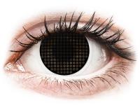 Crazy barevné kontaktní čočky - ColourVUE Crazy Lens - Black Screen - nedioptrické