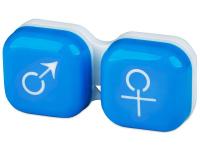 Pouzdra na kontaktní čočky - Pouzdro na čočky muž a žena - modré