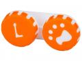 Pouzdra na kontaktní čočky - Pouzdro na čočky Tlapka - oranžové