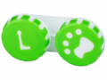 Pouzdra na kontaktní čočky - Pouzdro na čočky Tlapka - zelené