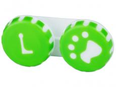 Pouzdro na čočky Tlapka - zelené