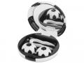 Pouzdra na kontaktní čočky se zrcátkem - Kazetka Fotbalový míč - černá